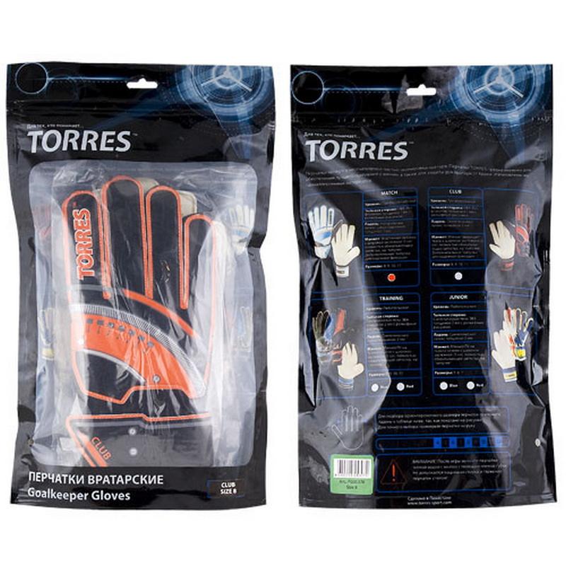 Перчатки вратарские трен. Torres Club FG050711 размер 11