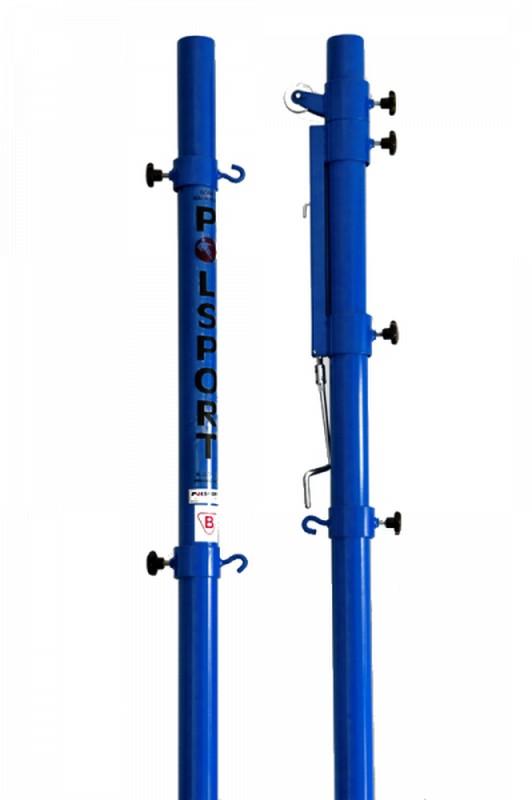 Стойки волейбольные PolSport стальные оцинкованные с механизмом натяжения 2 шт.