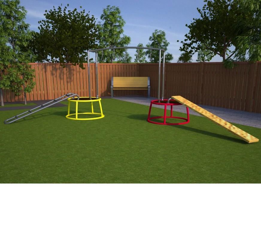 Купить Мобильная детская игровая площадка Переправа Hercules 4860,