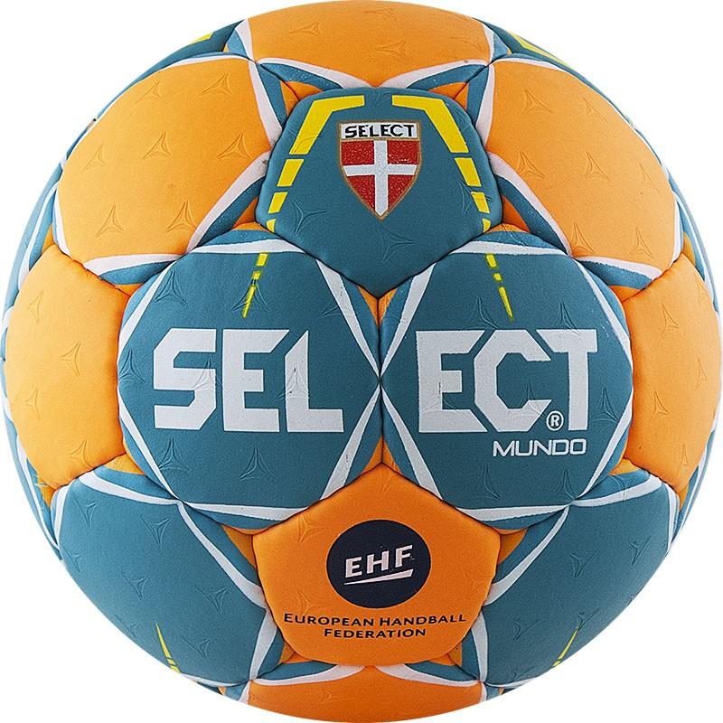 Мяч гандбольный Select Mundo Junior (р.2) тренировочный, 32 пан, зел/оранж. мяч футзальный select futsal talento 11 852616 049 р 3
