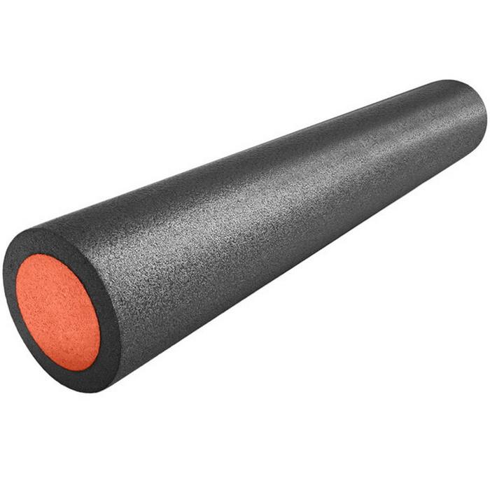 Купить Ролик для йоги полнотелый 2-х цветный (черно-оранжевый) 90х15см. B31513, NoBrand