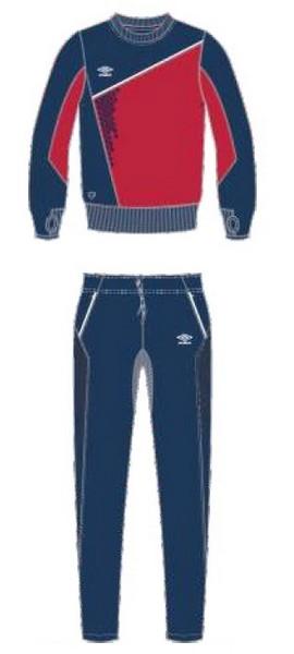 Костюм спортивный Umbro Armada Poly Suit мужской 350315 (291) красн/т.син/бел.