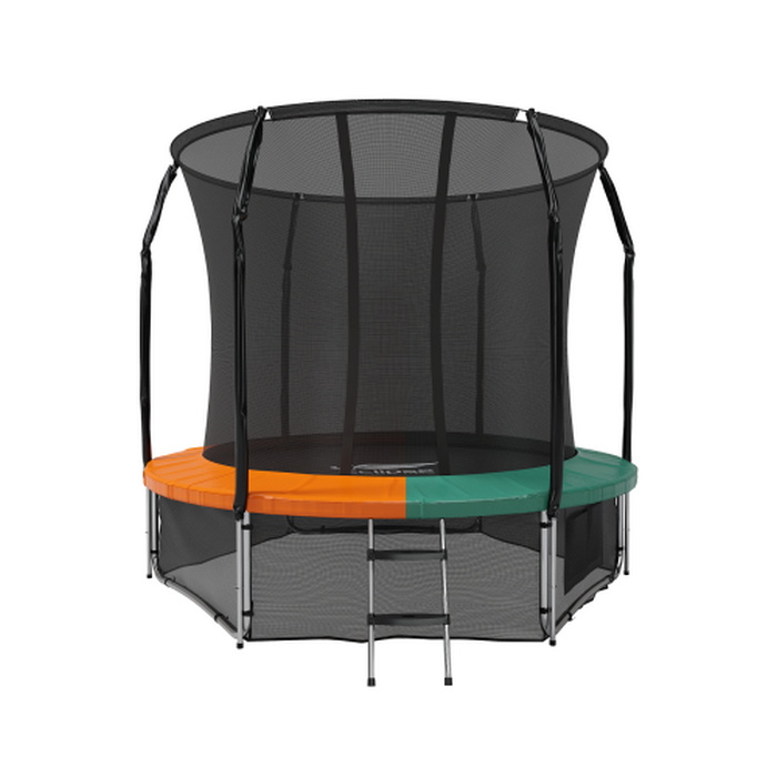 Купить Батут с защитной сеткой Eclipse Space Green/Orange 8FT,