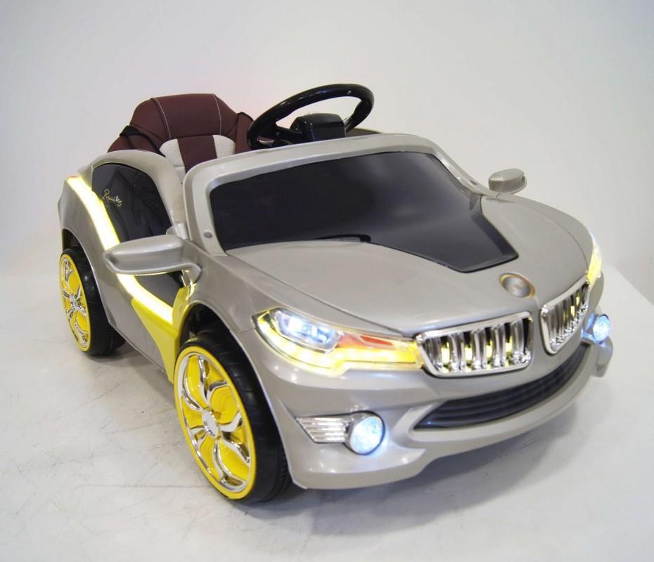 Купить Электромобиль River-Toys BMW O002OO VIP с ДУ серебристый, Детские электромобили