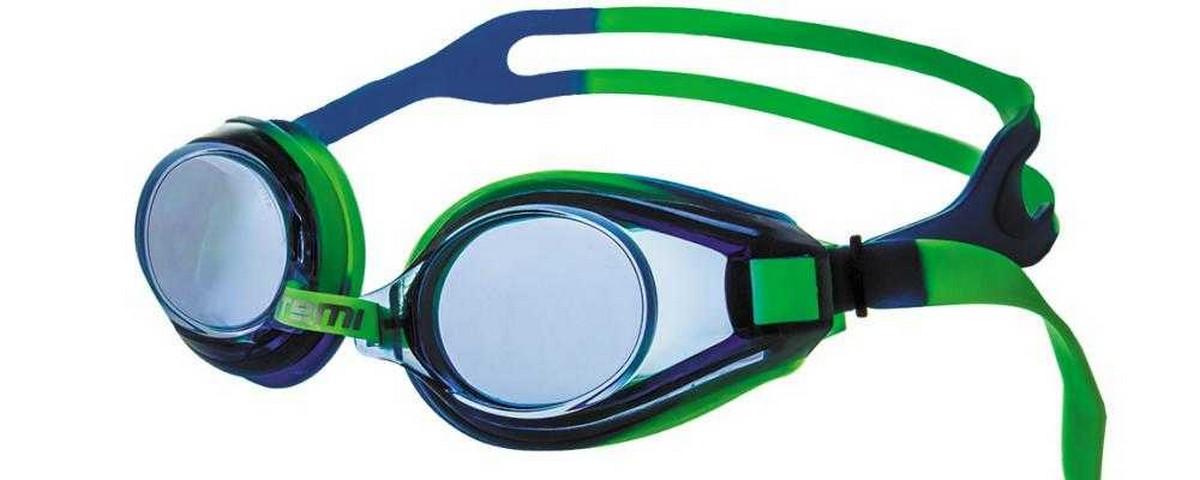 Очки для плавания Atemi M106 зеленый-синий фото