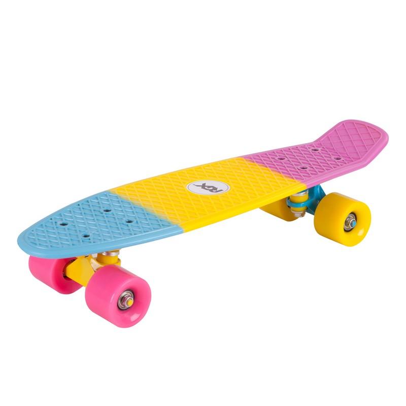 Мини-круизер RGX PNB-05 Pink-Yellow-Blue скейт мини круизер union neon frog green 7 5 x 28 71 1 см