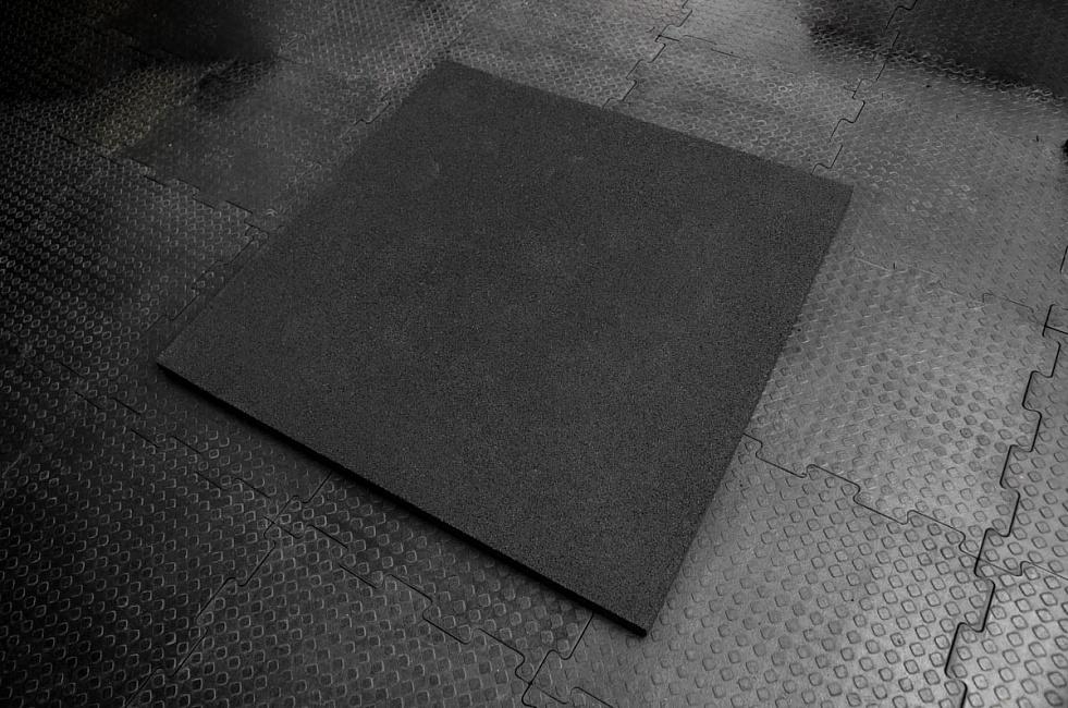 Резиновое покрытие 100х100х3см YouSteel (черный, синий, серый - цвет на выбор)