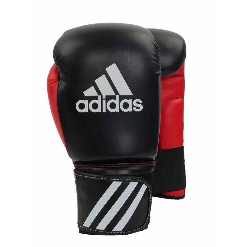 Боксерские перчатки Adidas Response 10 oz черный/красный от Дом Спорта