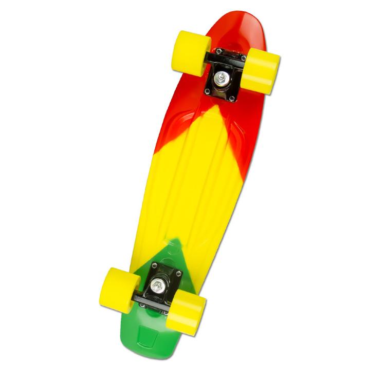 Скейтборд MaxCity MC Plastic Board small Color подвеска для скейтборда 1шт ruckus trkrk3317 mid black 5 5 21 см