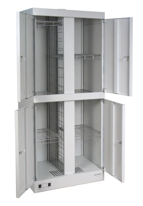 Шкаф сушильный металлический для одежды и обуви ШСО-2000-4 1810х800х510мм