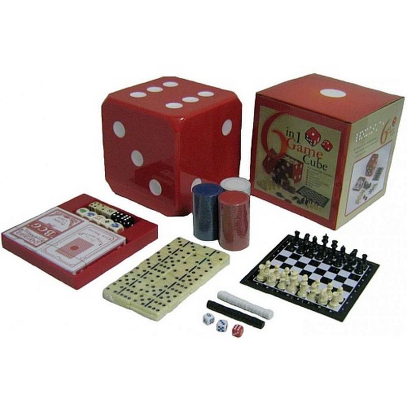 Игра 6 в 1 (шашки, шахматы, нарды, покер, домино,кости) MX0961