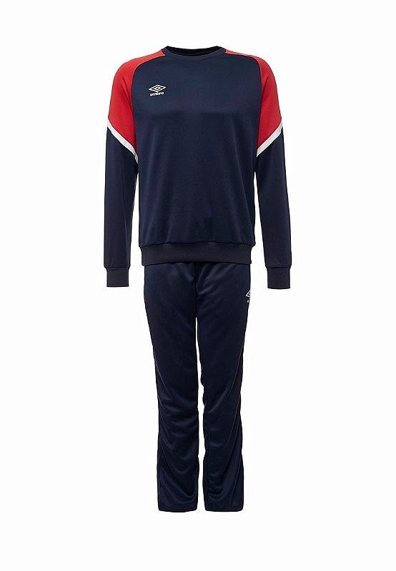 Костюм спортивный Umbro Avante Poly Suit мужской 350217 (921) т.син/красн/бел.