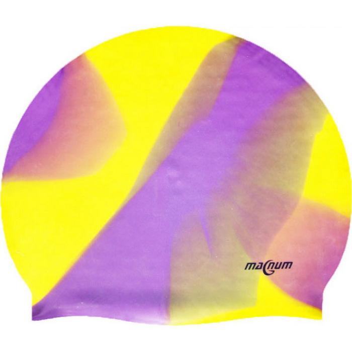 Купить Шапочка для плавания SR Мультиколор фиолетовы / желтый без логотипа MC701, NoBrand