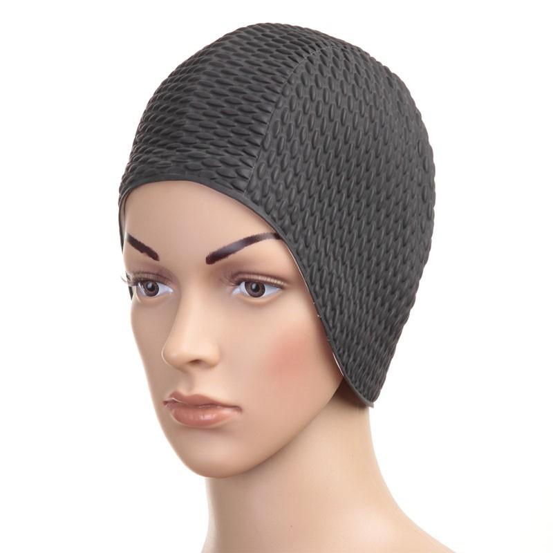 Купить Шапочка для плавания Fashy Babble Cap женская 3115-20 резина, черная,