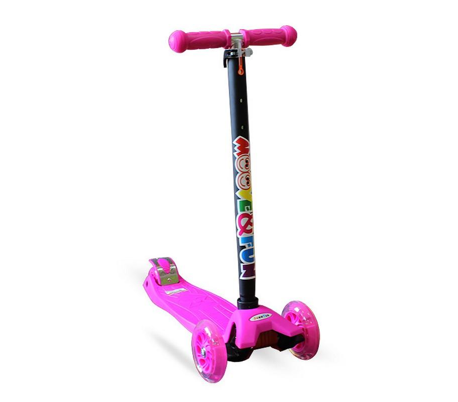 Купить Самокат Moove&Fun Maxi Led MF-MAXI-LED розовый,
