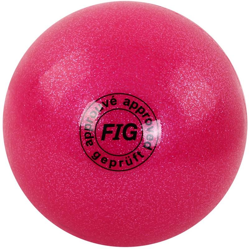 Купить Мяч для художественной гимнастики d19см GC 02 розовый металлик, NoBrand