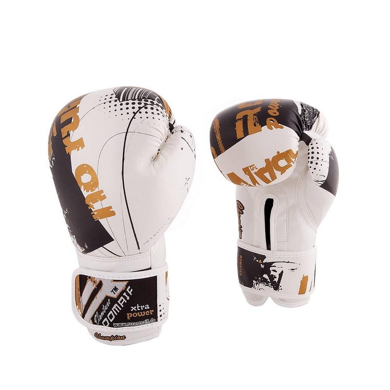 Боксеркие перчатки Roomaif RBG-175 Dx White 12 oz фото