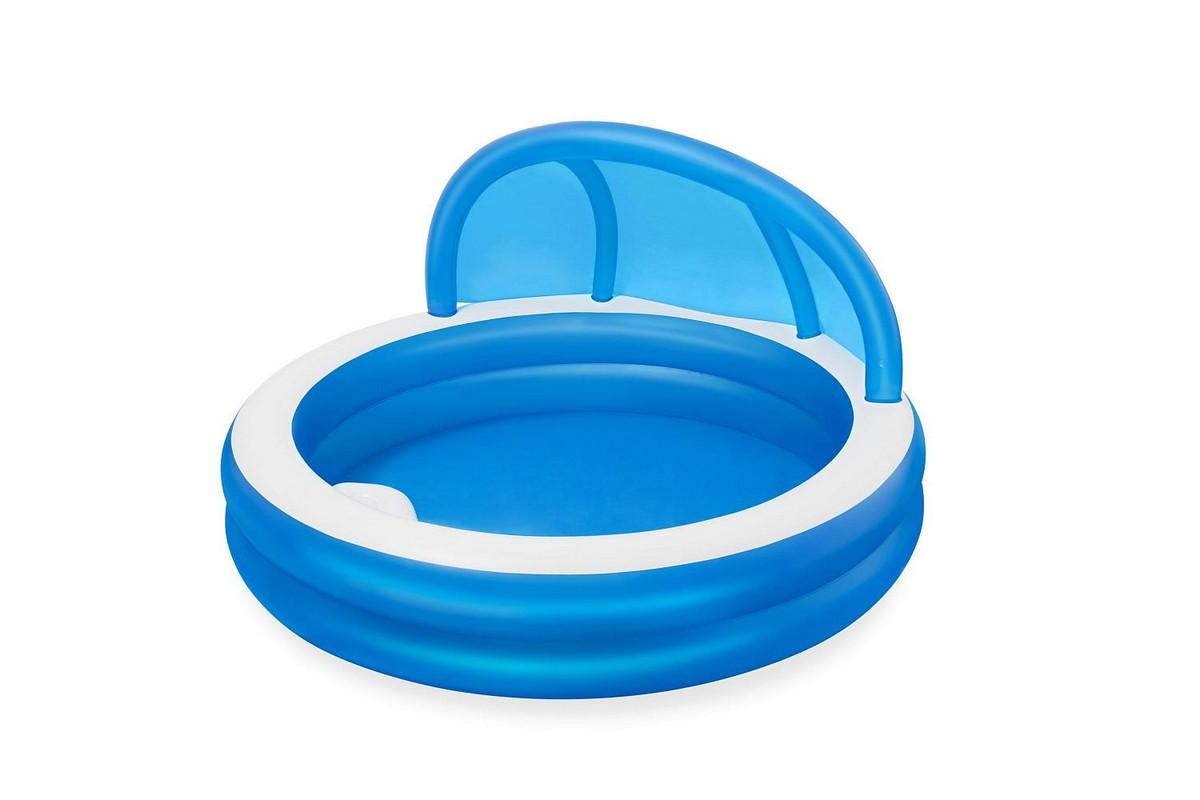 Купить Детский надувной бассейн, круглый 241x140см Bestway с навесом 54337,