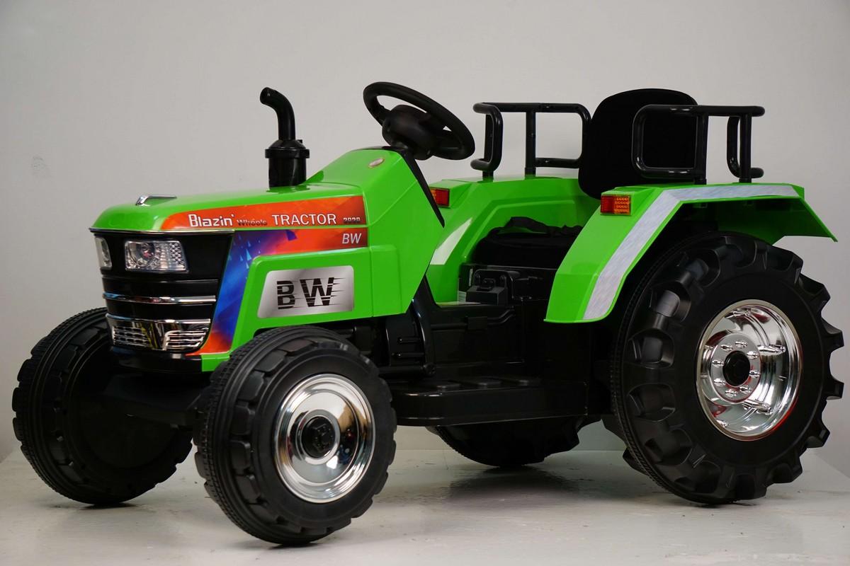 Купить Электромобиль River-Toys Трактор O030OO зеленый, Детские электромобили