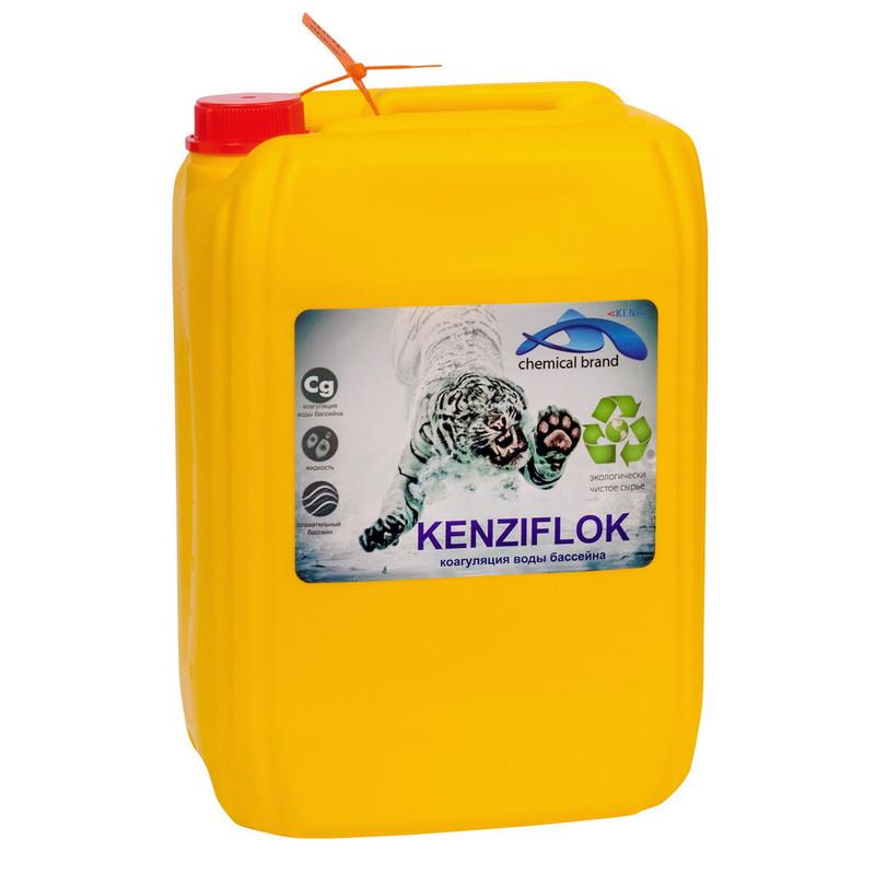 Купить Кензи-флок Kenaz сульфат алюминия 7,2% 30л,