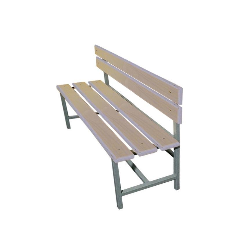 Купить Скамейка для раздевалки со спинкой 1200 мм сиденье из фанеры Dinamika ZSO-002205,