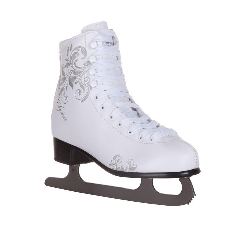 Фигурные коньки Alpha Caprice Elegance белый интернет магазины минска фигурные коньки