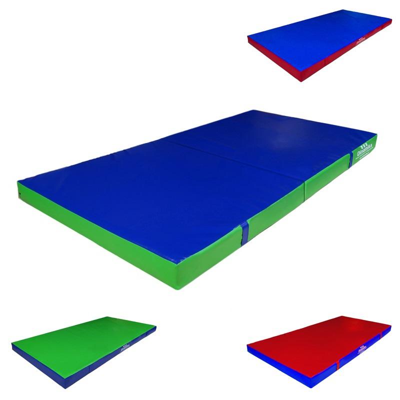 Купить Мат гимнастический 200х100х10см винилискожа складной в 2 сложения (холлослеп/холлофайбер) Dinamika ZSO-001338,