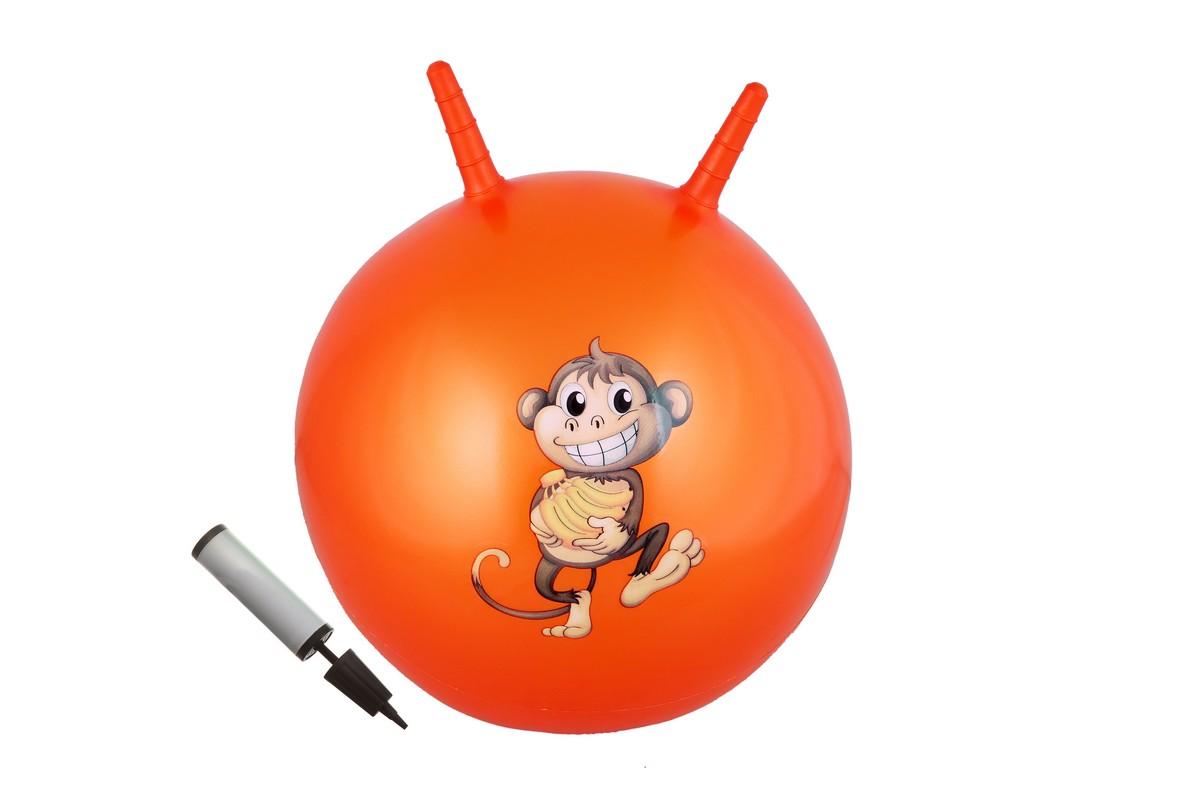 Мяч с двумя ручками + насос Body Form BF-CHBP02 D=55 см оранжевый