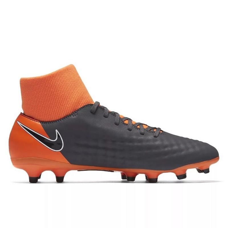 Бутсы футбольные Nike Obra II Academy DF FG Ah7303-080 SR т.сер/оранж