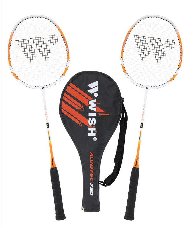 Набор для бадминтона Wish Alumtec 780 (2 ракетки), оранжевый