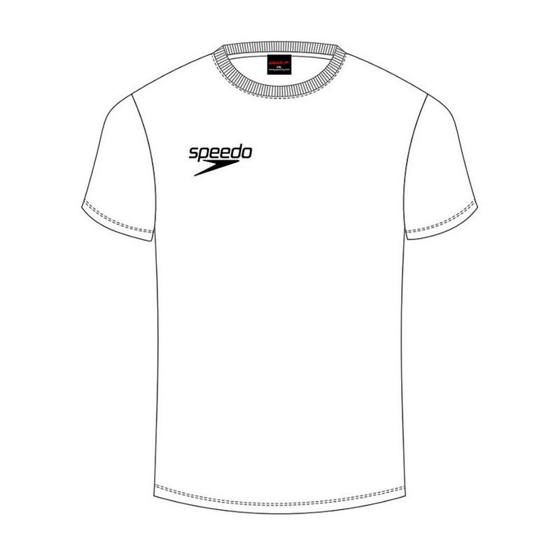 Футболка мужская Speedo Small Logo T-Shirt white (0003) белая