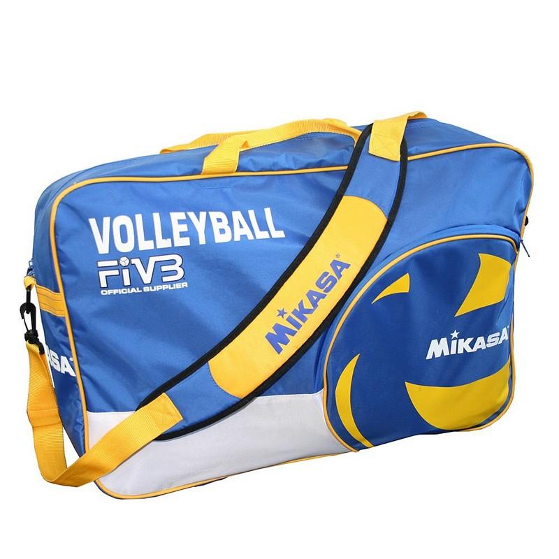 Сумка на 6 волейбольных мячей Mikasa VL6B-BL сине-желтая