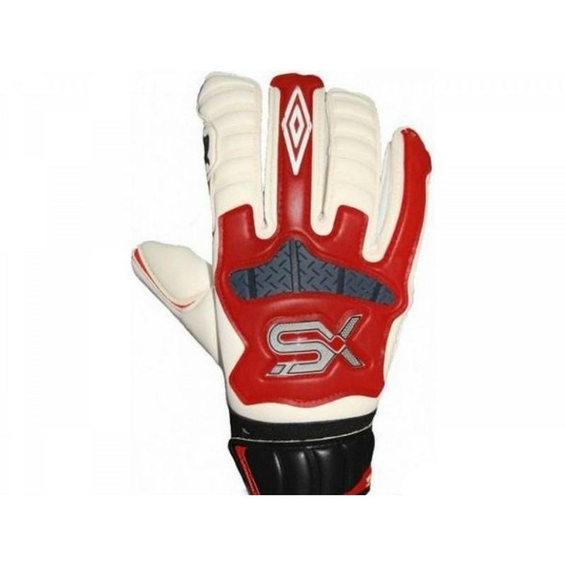 Перчатки вратарские Umbro SX Valor Premier 502875-O06 белый/красный/черный