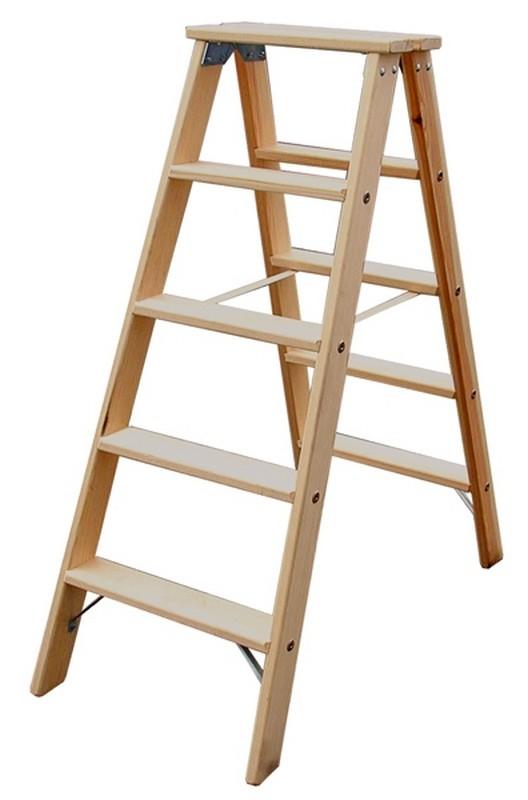 Купить Двусторонняя лестница из дерева Krause STABILO 2х10 ступеней, 220 см 818270,