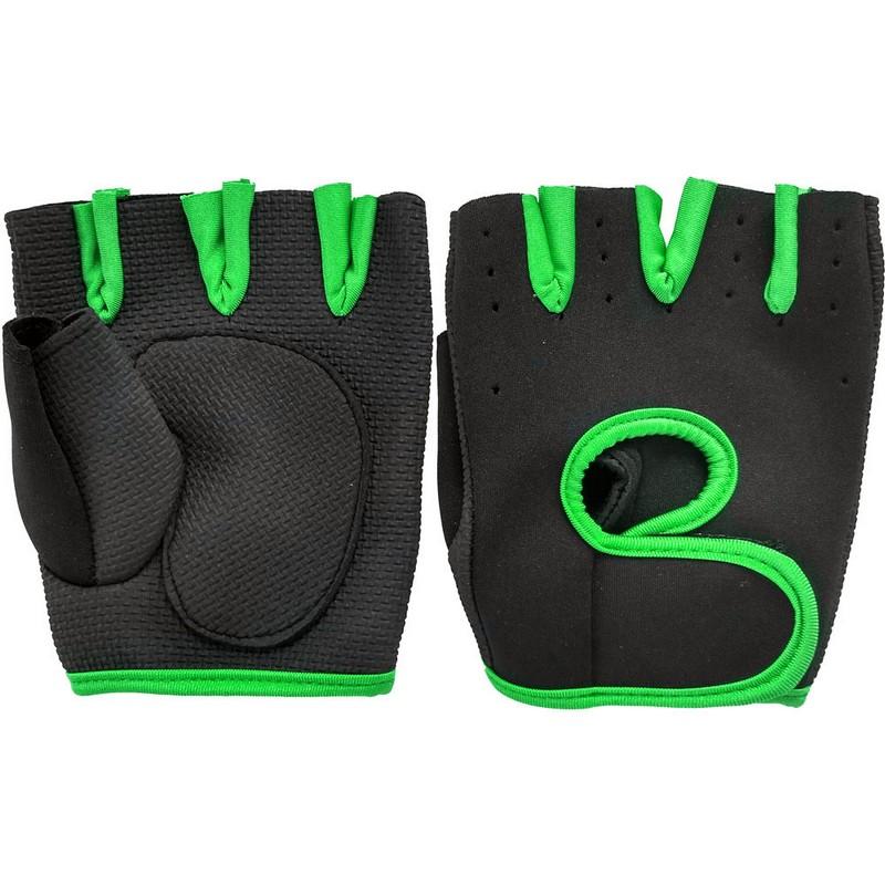 Купить Перчатки для фитнеса зеленые, NoBrand