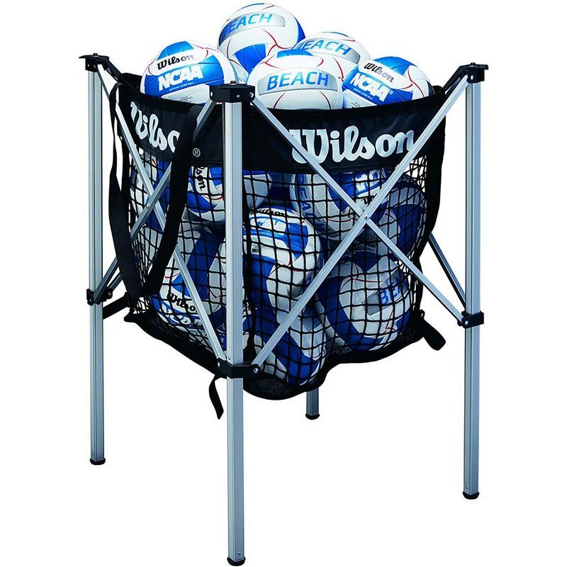 Корзина для волейбольных мячей Wilson WTH180400 лого Wilson, черный