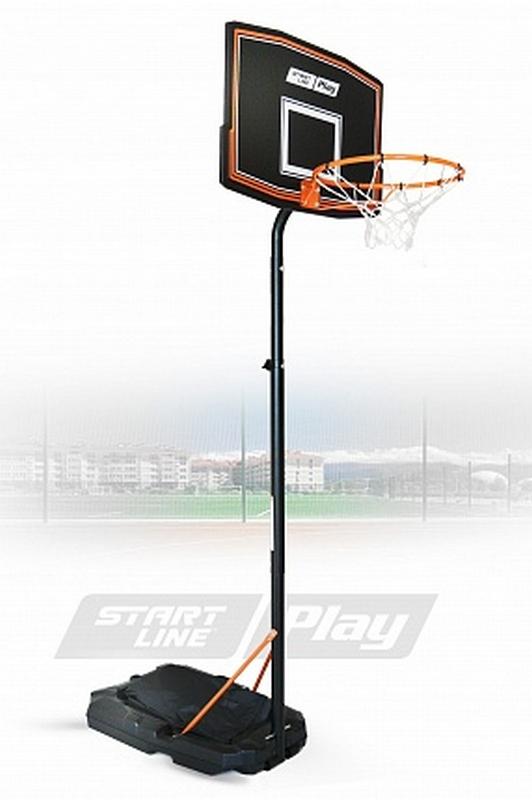 Баскетбольная стойка Start Line Junior 080 (высота 165-220 см, р-р. щита 75x50x1,5 см, кольцо 41 см) ZY-080