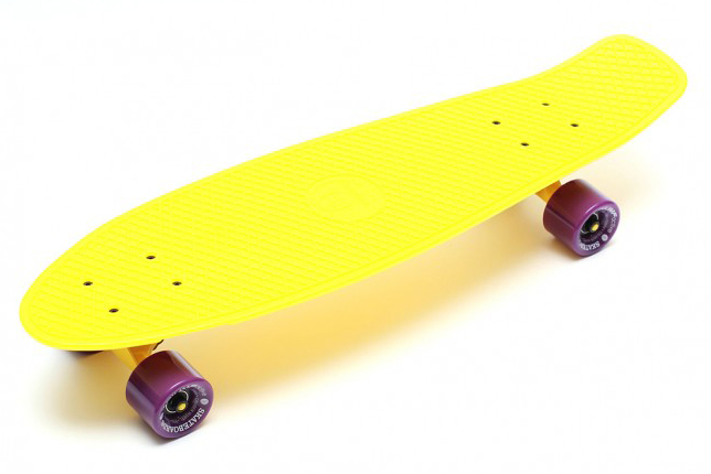 Купить Скейтборд Triumf Active TLS-402 желтый с филетовыми колесами 27 во5504,