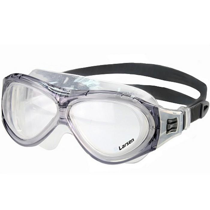 Купить Очки для плавания Larsen К5 серый,