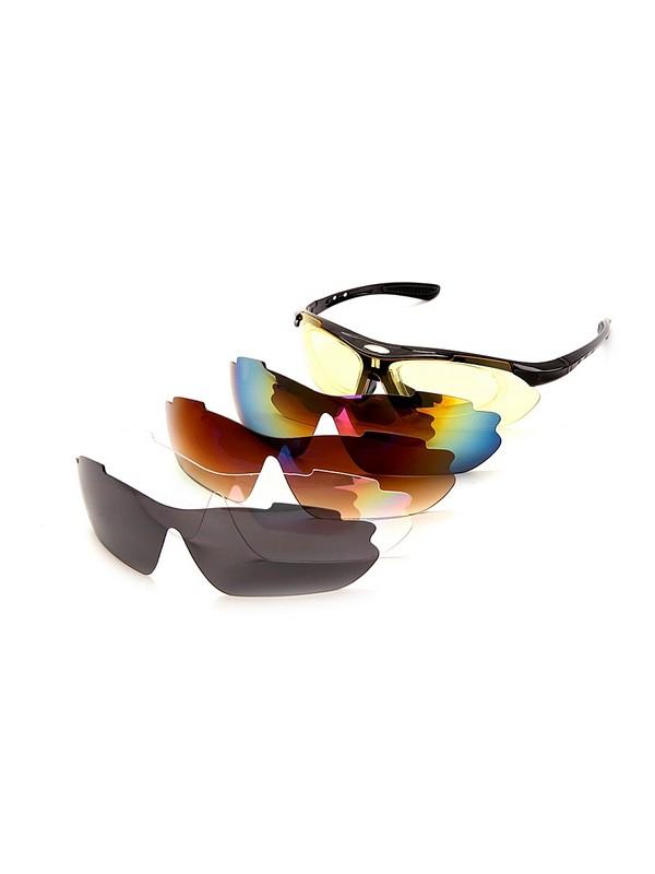 Очки спортивные солнцезащитные Bradex с 5 сменными линзами в чехле SF 0154  красные