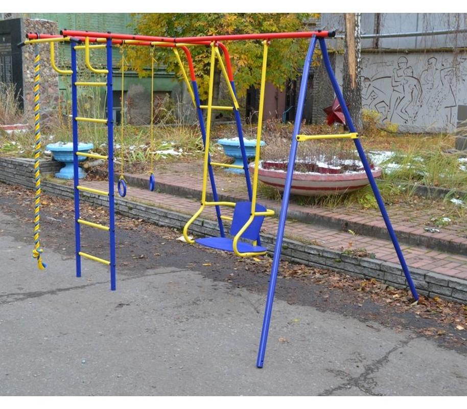 Детский спортивный комплекс Пионер Шалун ТК-2 качель на трубах со спинкой детский спортивный комплекс пионер орленок тк 2