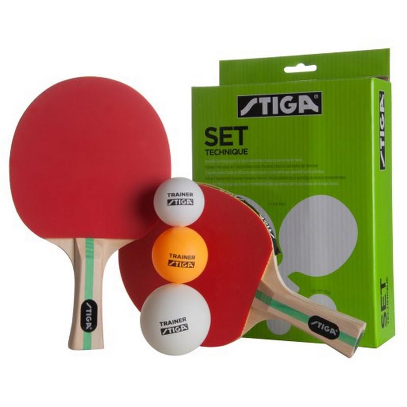 Набор Stiga Technique, Set 2 ракетки+3 мяча