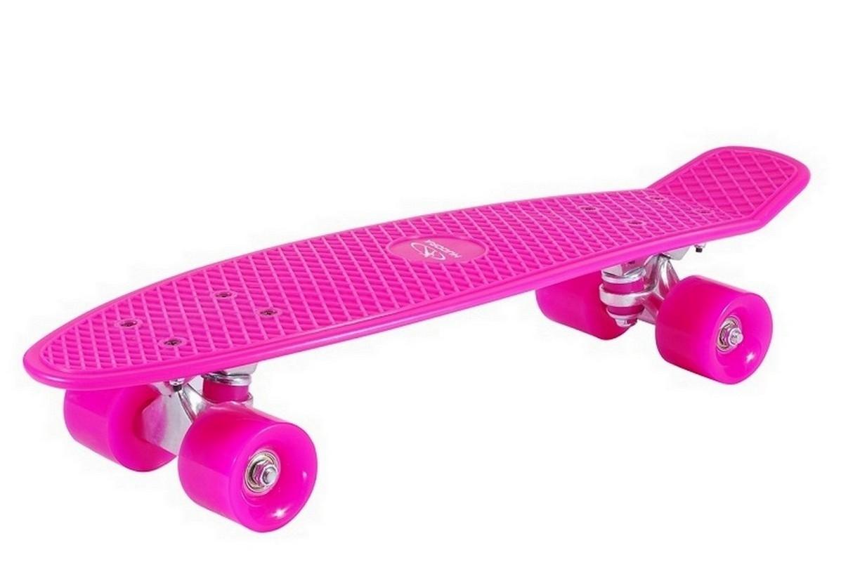 Скейтборд Hudora Skateboard Retro Sky Pink скейтборд с какого возраста можно начинать