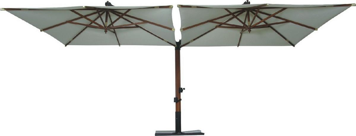 Зонт двойной GardenWay SLHU002 c кантом бежевый