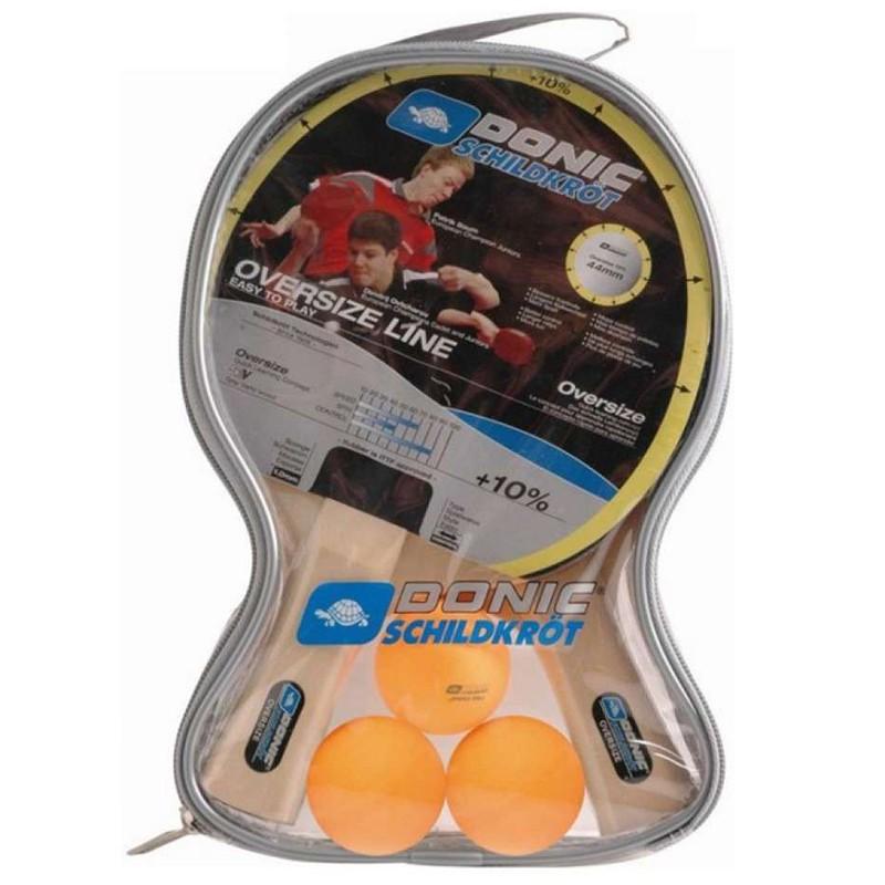 Набор Donic Oversize (2 ракетки + 3 мяча) фото