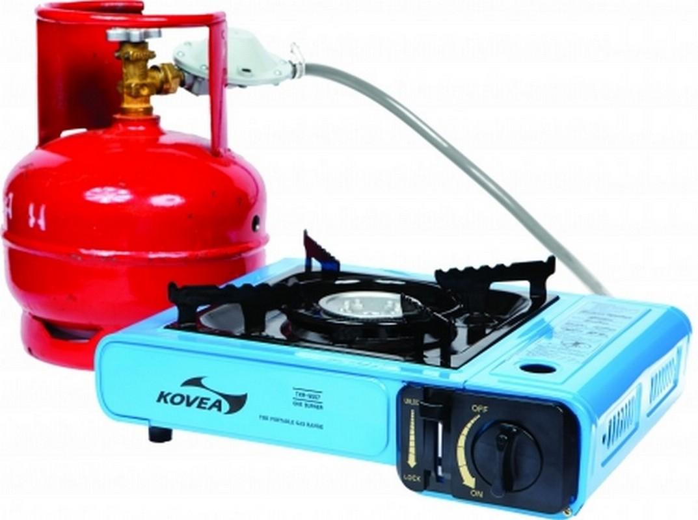 Плита газовая Kovea Portable Range TKR-9507-P, переходник на баллон 5л плита газовая kovea мини tkr 2005