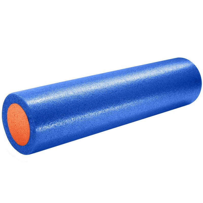 Купить Ролик для йоги полнотелый 2-х цветный (сине/оранжевый) 61х15см PEF100-61-B, NoBrand