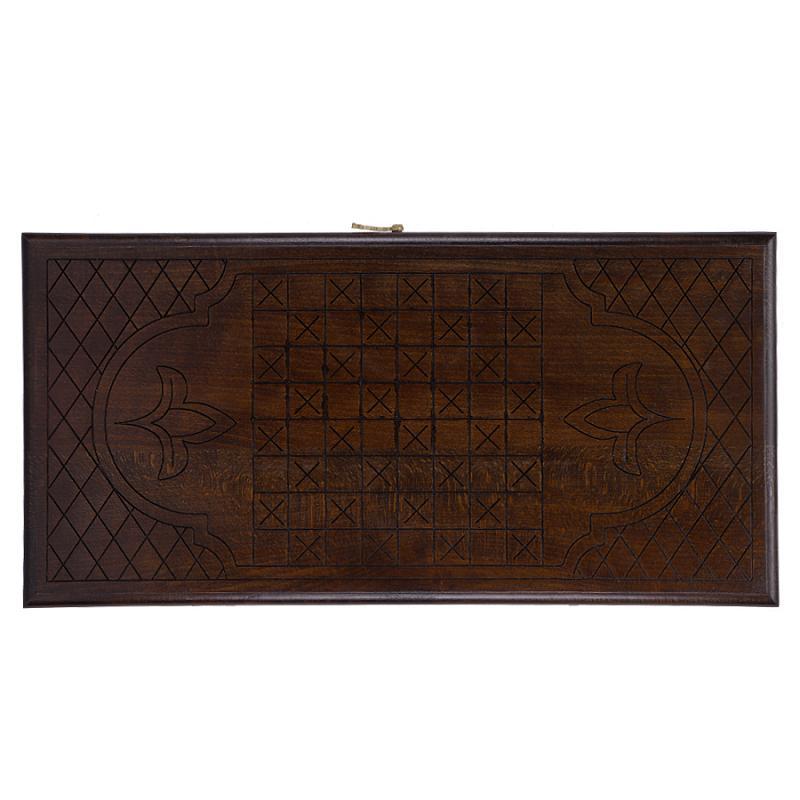 Купить Нарды резные Орнамент-2 50, Ustyan GU040-5, NoBrand, Шахматы, шашки, нарды