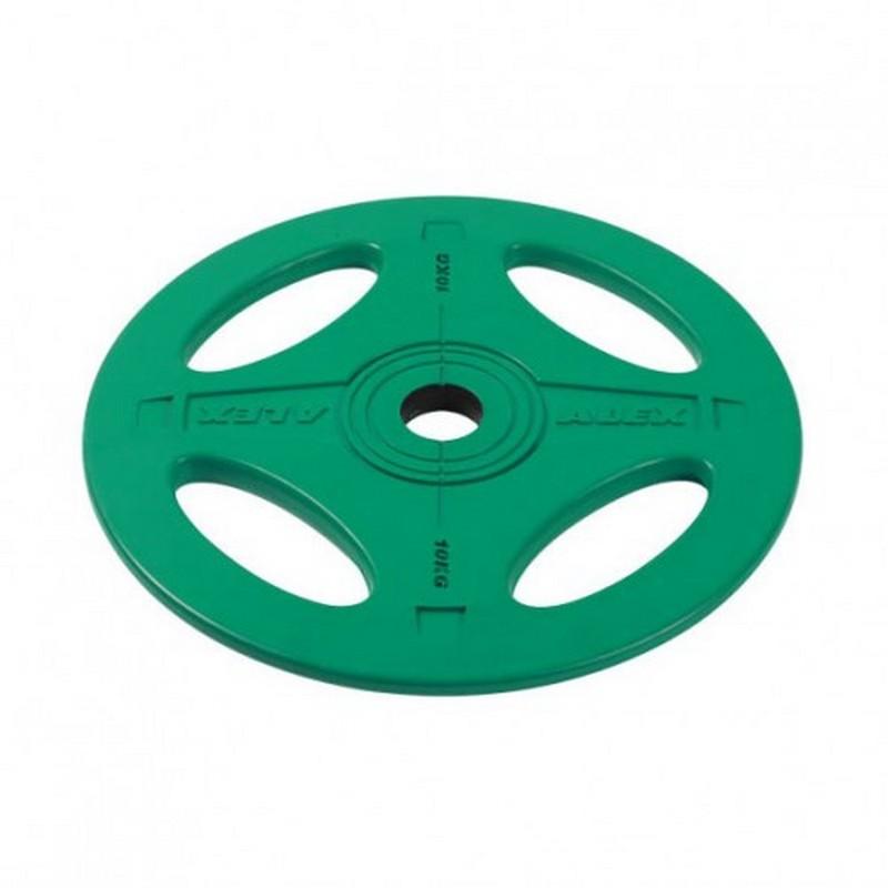 Купить Диск обрезиненный Alex 10 кг P-RO-10K-DSA зеленый,