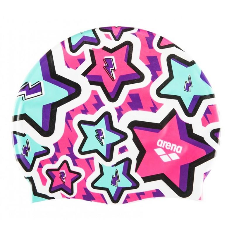 Купить Шапочка для плавания Arena Print Jr детская, 94171207, фиолетовый, принт Frolic,